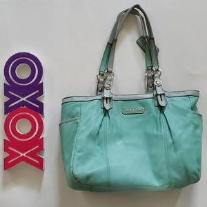 COACH laguna blue gallery east west tote